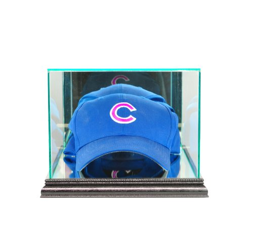 Mlb Hat Cases Display (Perfect Cases MLB Cap/Hat Glass Display Case, Black)