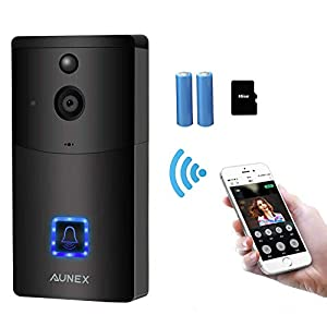 AUNEX video doorbell, Black