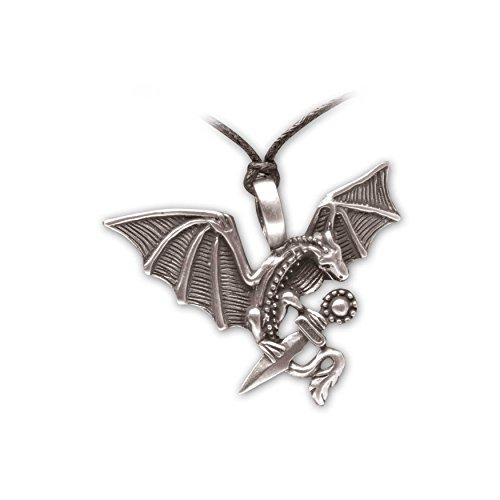 Zoelibat 97209141.112Gothic Punk Pendant, Dragon with Sword, 5.5x -
