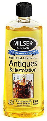 Milsek Antiques & Restoration Polish with Lemon Oil & Microfiber Cleaning Towel, 12-Ounce, ART-1