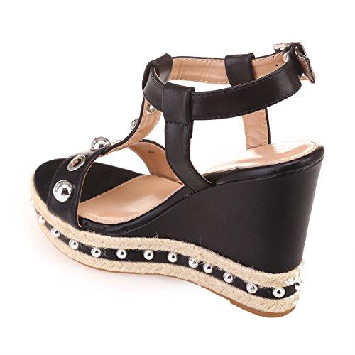 La La Modeuse Noir compensées Sandales compensées Noir La Modeuse Sandales Modeuse compensées Sandales compensées Noir Sandales Modeuse La S4qAUAY