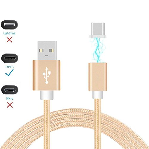 I-Sonite (Gold) Magnetic USB Micro USB Nylon Braided Fast Rapid Charging & Data Syc Transfer Cable with LED light Indicator For Haier I6