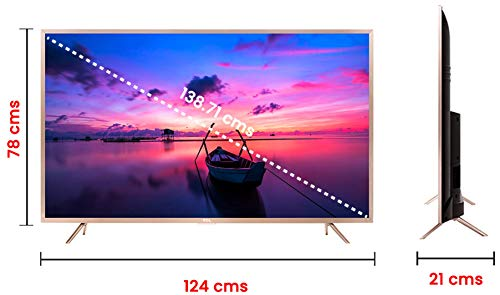 TCL 138 71 cm (55 Inches) 4K UHD LED Smart Certified Android TV L55P2MUS  (Gold)