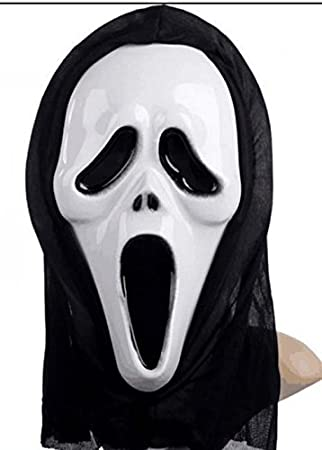 Halloween Scream Mask Ghost Masks Hooded White Face By Sunshine D ...