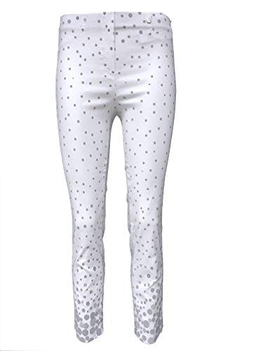 Robell - Pantalón - para mujer blanco gris
