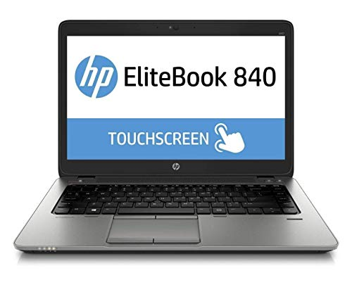 HP EliteBook 840 G2 14in FHD Touchscreen Business Laptop Computer, Intel i5-5300U up to 2.9GHz, 8GB RAM, 240GB SSD, WiFi, Backlit KB, Fingerprint, Black, Windows 10 Professional ()