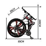 Mountain-Bikepieghevole-Adulto-Fuoristrada-Velocit-Variabile-Macchinadacorsa-Alunno-Bicicletta-26-Pollici-21velocit-Ammortizzatore-Posteriore-Antipolvere-Freni-A-Doppio-Disco-Anteriori-E-Posterior