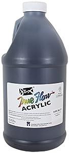 Sax True Flow Medium-Bodied Acrylic Paint - 1/2 Gallon - Mars Black