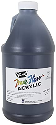 Sax True Flow Heavy Body Acrylic Paint, 1/2 Gallon, Mars Black