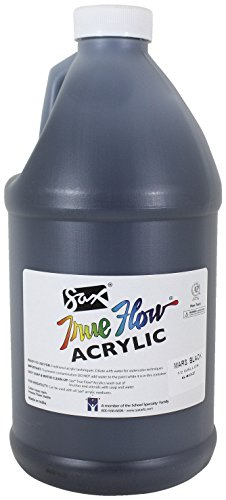 sax-true-flow-medium-bodied-acrylic-paint-1-2-gallon-mars-black