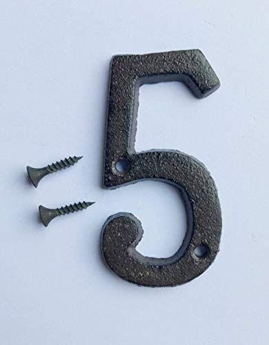 [해외]TAO+ House Numbers- 3 Inch Innovative Wrought Iron Numbers- Number 5 / TAO+ House Numbers- 3 Inch Innovative Wrought Iron Numbers- Number 5