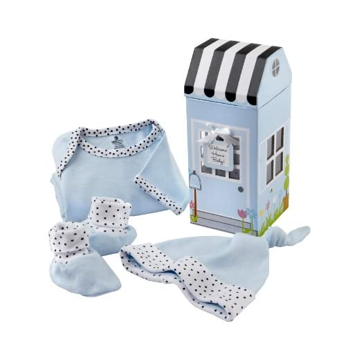 Baby Aspen Welcome Home Baby 3-Piece Layette Gift Set, Blue, 0-6 Months