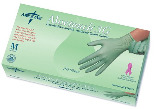 Medline Aloetouch Exam Gloves Small MDS195174