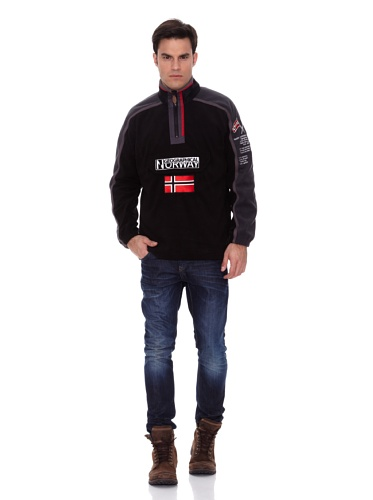 Geographical Norway Giacca in Pile Tim Nero/Grigio L