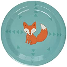 Ginger Ray Woodland Friends Fox Pattern Paper Party Plates/BBQ/Summer, Mixed