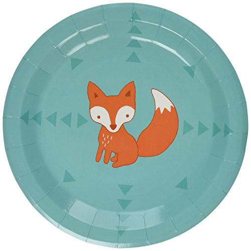 Fox Paper (Ginger Ray Woodland Friends Fox Pattern Paper Party Plates/BBQ/Summer, Mixed)