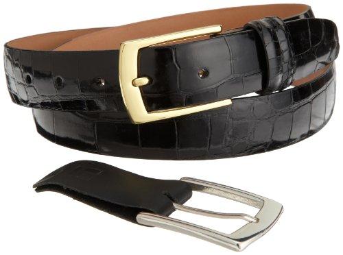 Alligator Belt - Trafalgar Men's Genuine Alligator Belt,Black,40