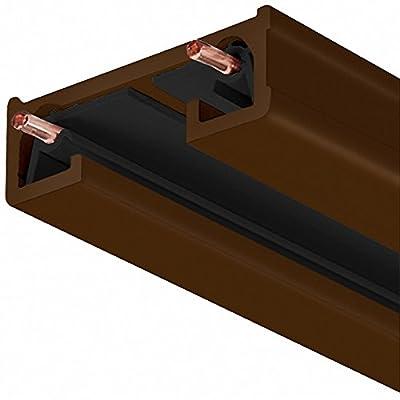 Juno Lighting 8FT BZ R Series Trac-Lite Track Section, 8', Bronze