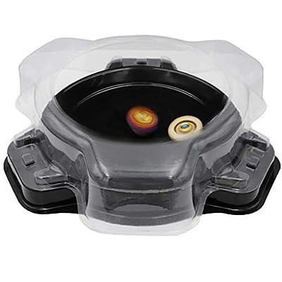 Gyro Disk,Burst Evolution Stadium Battling Tops Stage for Top Game Gyro Disk Game Arena for Burst Launcher Super Vortex Battling Tops Arena (Black): Toys & Games