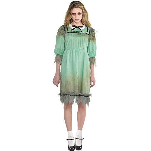 Suit Yourself Dreadful Darling Costume for Women, Standard Size, Features a Tattered Dress with Black Details and a Bow -