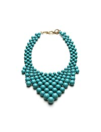 Womens Jewelry Turquoise Bead Statement Necklace