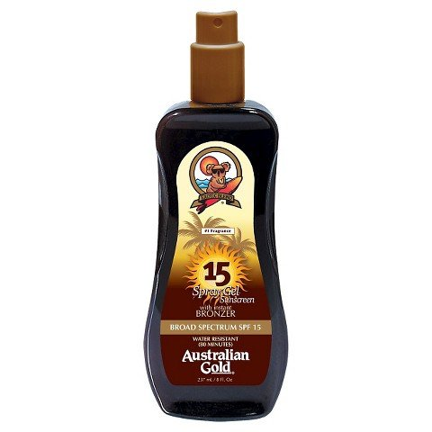 Price comparison product image Australian Gold Spray Gel Sunscreen with Instant Bronzer SPF 15 8 oz