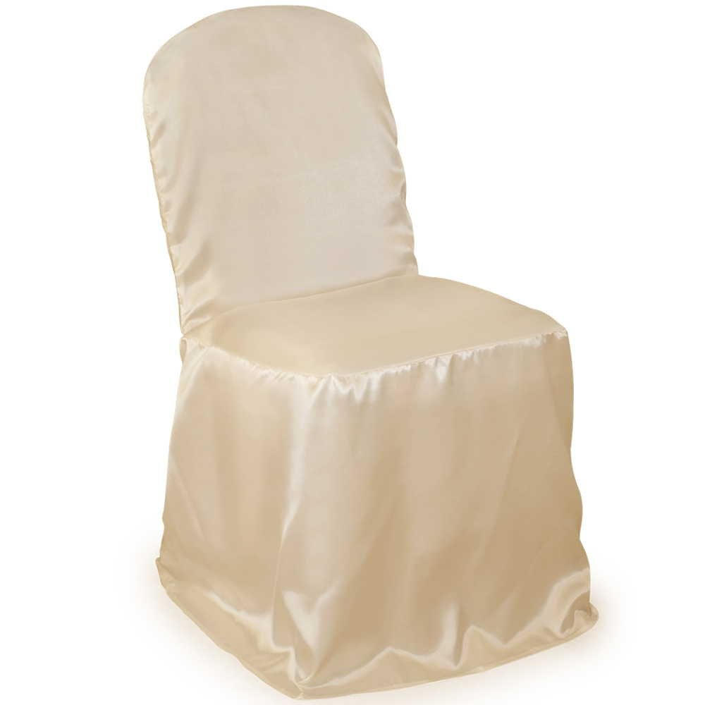 Lann's - 100 Wedding Banquet Chair Covers - Ivory Satin by Lanns Linens