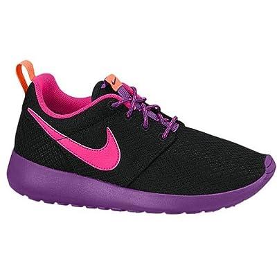 Nike Rosherun (GS) Girls Running Shoes 599729-007 Black Pink Power-Bold Berry-Total Orange 7 Big Kid M