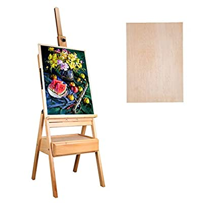 Easel-Wooden Oil Painting Easel Box Set Folding Multi-Function Sketch Sketch Portable Easel Display Stand