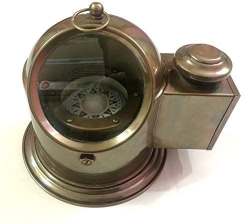 Antique Brass Floating Dial Binnacle Gimbled Compass Nautical Ship/Boat Oil Lamp by Antique (Image #4)