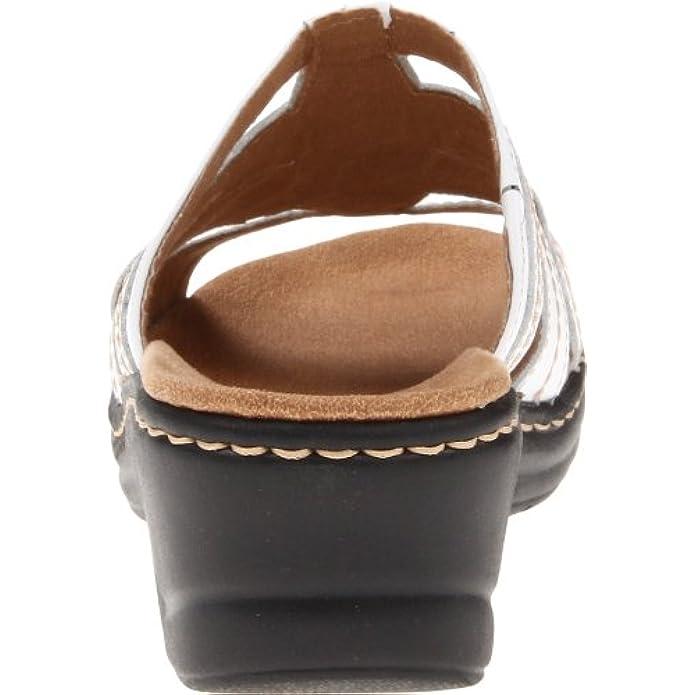 Clarks Women's Lexi Myrtle Sandal white 8 5 Xw Us