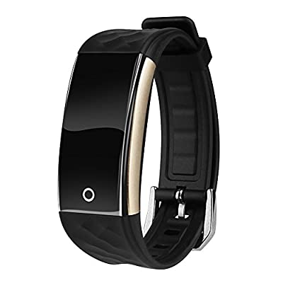 Cocare S2 Smart Band Touch Screen Smartwatchs Waterproof Fitness Tracker Sport Wristband with Sleep Monitor Pedometer for Android iOS-Black