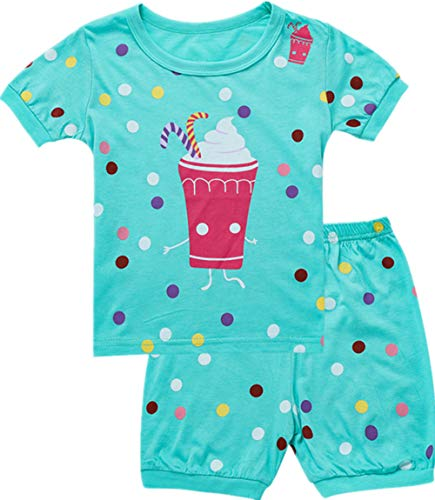 Qtake Fashion Girls Pajamas Set Children Clothes Set 100% Cotton Toddler Pjs Sleepwear Dinosaur PJS Size 12M-12T (icecream1, -