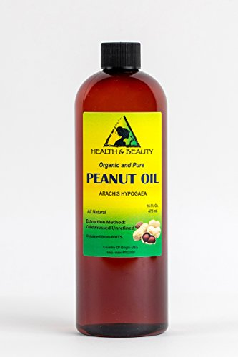 Peanut Oil Organic Unrefined by H&B OILS CENTER Raw Virgin Cold Pressed Premium Quality Natural Pure 16 -