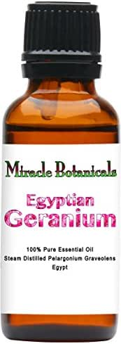 Miracle Botanicals Premium Egyptian Geranium Essential Oil - 100% Pure Pelargonium Graveolens - 10ml and 30ml Sizes - Therapeutic Grade 30ml