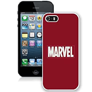 Beautiful Unique Designed iPhone 5S Phone Case With Marvel Comics Simple Logo_White Phone Case