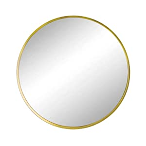 Huimei2Y Circle Mirror with Metal Frame, 19.7 Inch Round Wall Mirror for Entryway, Living Room, Bathroom & Bedroom (Gold)