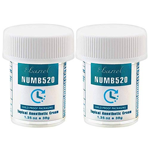 (Ebanel 5% Lidocaine Topical Numbing Cream for Painkilling, 2 Pack 2.7oz Max Strength Pain Relief Cream Ointment Anesthetic Gel with Liposomal for Sections, Hemorrhoid, Local and Anorectal Discomfort)