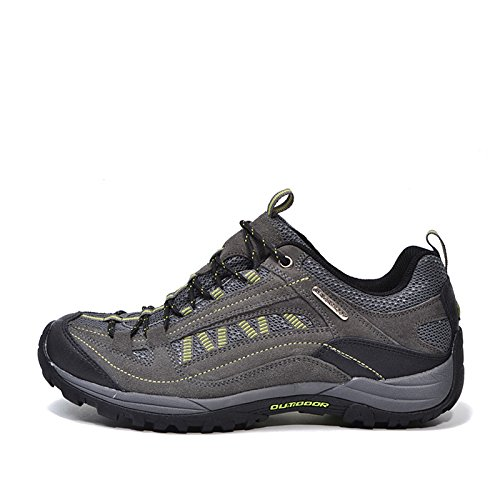 Nave nel deserto-Scarpe da uomo per escursionismo, impermeabili, colore: grigio, Verde EUR41)