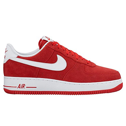 Nike Mens Air Force 1 Low 07 Basketball Shoes University Red/White 315122-612 Size 12 (Air Force 1 Low All White On Feet)