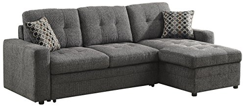 Coaster Gus Casual Charcoal Sectional
