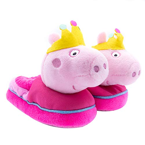 (Peppa Pig Big Head Slippers for Kids, Kids House Slippers Pink)
