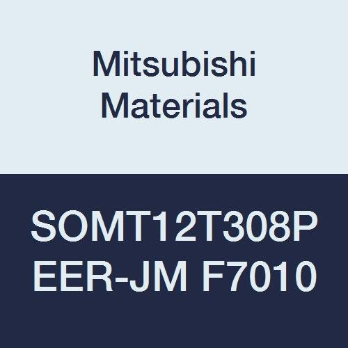 Chamfer and Round Honing Square 0.5 Thick Mitsubishi Materials SOMT12T308PEER-JM F7010 Coated Carbide Milling Insert 0.031 Corner Radius Class M Pack of 10