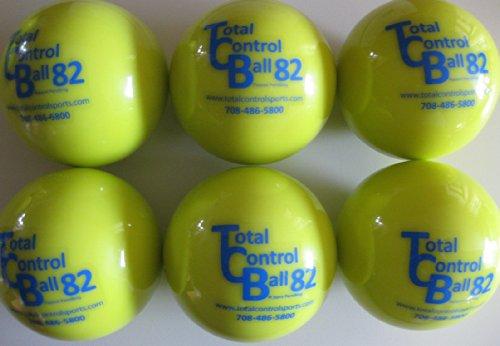 (TOTAL CONTROL BALL TCB 82 Softball Weighted Training Hitting Batting Aid ~ 6 BALL Pack)