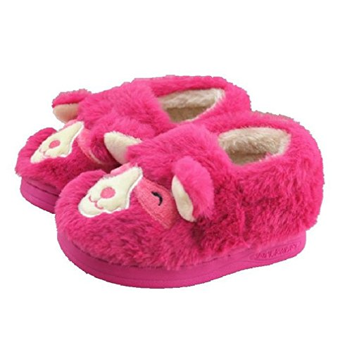 CYBLING Comfort Winter Warm Boys Girls Cute Sheep Home Slippers for Toddler Little Kids Soft Soled Non-slip (Child Purple Furry Boot Covers)
