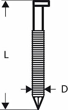 galvanisiert geringt; SN34DK 90RG Bosch Professional 2608200023 Nagel D-Kopf Nagel 34/°