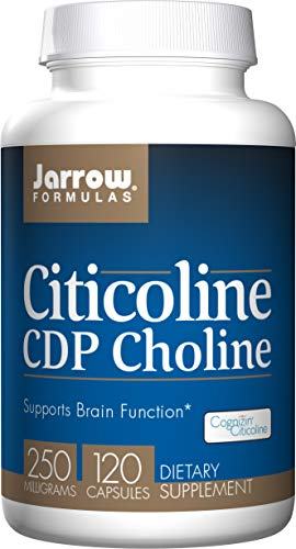 Jarrow Formulas Citicoline, Supports Brain Function, 250 mg, 120 Caps ()