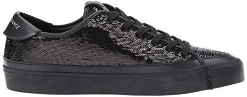 A | X Armani Exchange Dame Sequined Lav Top Sneaker Nero