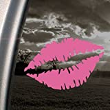 Femmes Bouche Rouge à lèvres Rose SEXY en vinyle autocollant pour fenêtre de voiture Rose