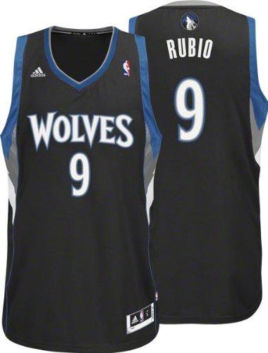 1702553be NBA adidas Ricky Rubio Minnesota Timberwolves Revolution 30 Swingman Jersey  - Black (XX-Large